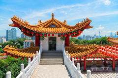 Tour décorative de Colorfull dans le chineseTemple traditionnel Photo libre de droits