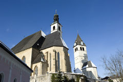 tour d'église à kitzbuehel Photo stock