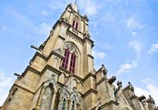 Tour d'église catholique gothique de type Photo libre de droits