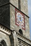 Tour d'église d'horloge Photo stock