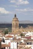 Tour d'église de cathédrale à Guadix, Andalousie, Espagne Photographie stock libre de droits