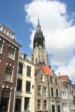 Tour d'église de Delft Photos libres de droits
