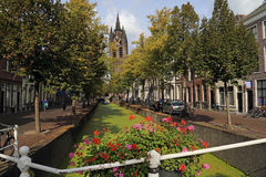 Tour d'église de Delft, Hollande Images libres de droits