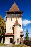 Tour d'église médiévale de Biertan, Roumanie Image stock