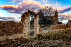 Tour d'église d'une petite ville Photographie stock