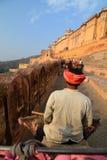 Tour d'éléphant Amer Palace (ou Amer Fort) jaipur Rajasthan l'Inde Photographie stock
