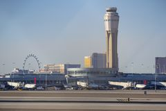 Tour d'aéroport de McCarran à Las Vegas - à LAS VEGAS - au NEVADA - 12 octobre 2017 Photo stock