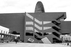 Tour d'Agbar à Barcelone en Espagne Images libres de droits
