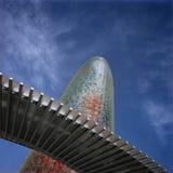 Tour d'Agbar. Barcelone Espagne Photo libre de droits