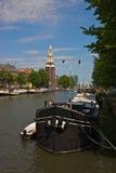 Tour d'Amsterdam Montelbaan Photos stock