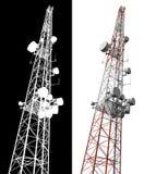 Tour d'antenne d'isolement de téléphone portable Photo stock