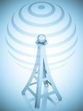 tour d'antenne de la transmission 3d Images stock