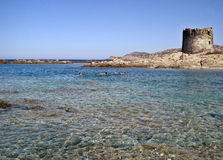Tour d'Aragonsky sur la plage de Peloza de La Images stock