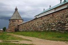 Tour d'Arkhangel de monastère de Solovetsky Image libre de droits