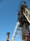 Tour d'ascenseur de mine Photographie stock libre de droits