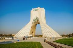 TOUR D'AZADI Téhéran, Iran photos libres de droits