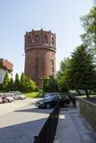 Tour d'eau de brique rouge dans Kolobrzeg, Pologne Image stock