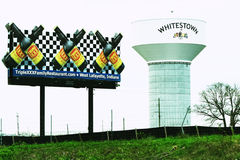 Tour d'eau de Whitestown et triple XXX photographie stock libre de droits