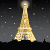 Tour d'Eiffle la nuit Photographie stock libre de droits