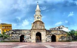tour d'horloge à Carthagène Colombie images stock