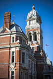 Tour d'horloge à l'hôtel de ville d'Eastbourne dans le Sussex Photo stock
