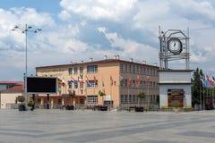 Tour d'horloge à la place centrale de la ville de Strumica, république de Macédoine Image stock