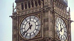 Tour d'horloge archivistique de Big Ben de Londres banque de vidéos