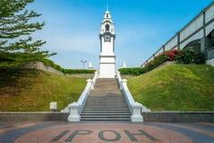 Tour d'horloge commémorative de bouleau dans Ipoh, Malaisie image stock