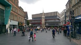 Tour d'horloge commémorative de Haymarket - Leicester Angleterre Photos libres de droits
