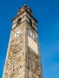 Tour d'horloge d'église dans Ascona photos stock