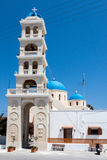 Tour d'horloge d'église Fira Santorini Image stock