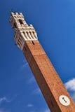 Tour d'horloge d'hôtel de ville de Sienne. Image stock