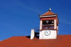 Tour d'horloge d'hôtel de ville Images stock