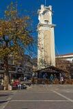 Tour d'horloge dans la vieille ville de Xanthi, de Macédoine est et de Thrace, Grèce image stock