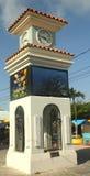 Tour d'horloge dans San Pedro, Belize Image libre de droits