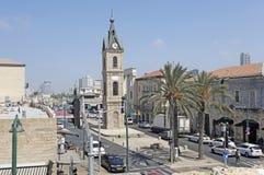 Tour d'horloge dans vieux Yaffo, Israël image stock