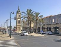 Tour d'horloge dans vieux Yaffo (Jaffa, Yafo), Tel Aviv, Israël photo stock