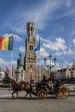 Tour d'horloge de beffroi de Bruges Belgique Image stock