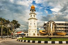 Tour d'horloge de jubilé, en George Town, Penang, Malaisie photo stock