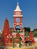 Tour d'horloge de Noël Photo libre de droits