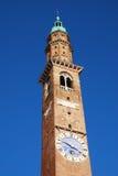Tour d'horloge de Palladiana de basilique, Torre Bissara Photographie stock libre de droits