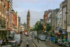 Tour d'horloge de penchement de Belfast images stock