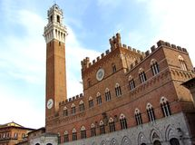 Tour d'horloge de Sienne en Italie Image libre de droits