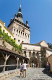 Tour d'horloge de Sighisoara images stock