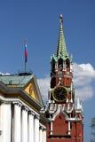 Tour d'horloge de Spasskaya photo libre de droits
