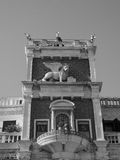 Tour d'horloge de St Mark à Venise en noir et blanc Photo libre de droits