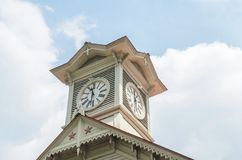 Tour d'horloge de ville de Sapporo Photographie stock libre de droits