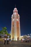 Tour d'horloge en Hong Kong au crépuscule Photo libre de droits