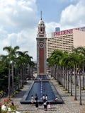 Tour d'horloge ferroviaire d'ancien Kowloon-canton dans Tsim Sha Tsui image stock