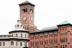 Tour d'horloge historique à Tacoma Photos stock
